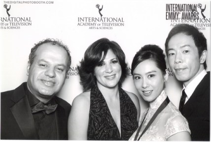 Wissam Chahine & his spouse Dania with the Emmy award best actress nominee Athena Chu Yan & her spouse
